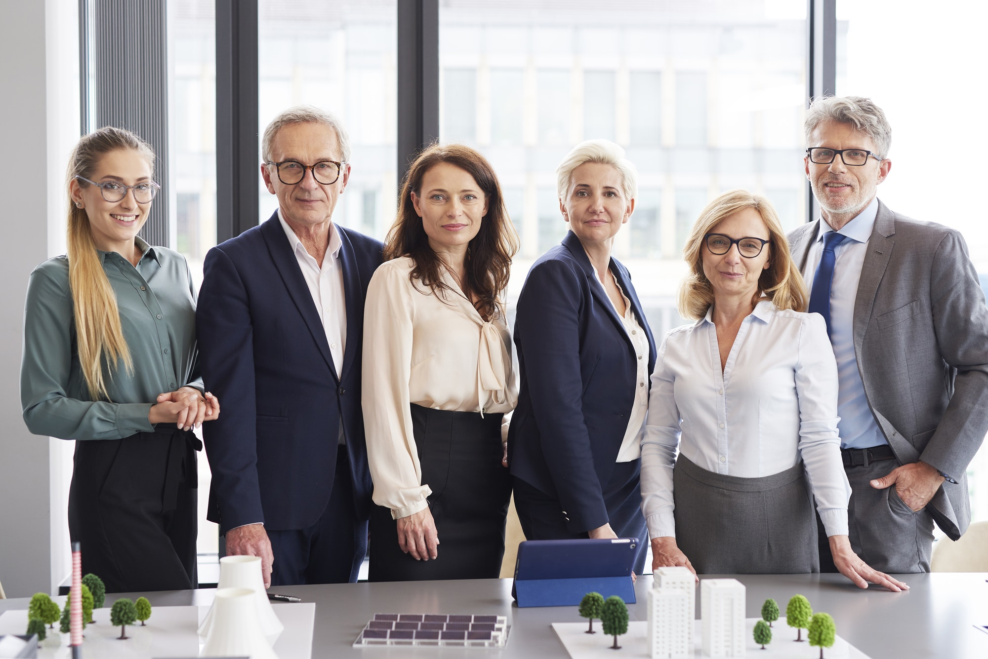 Portrait of business people in conference room
